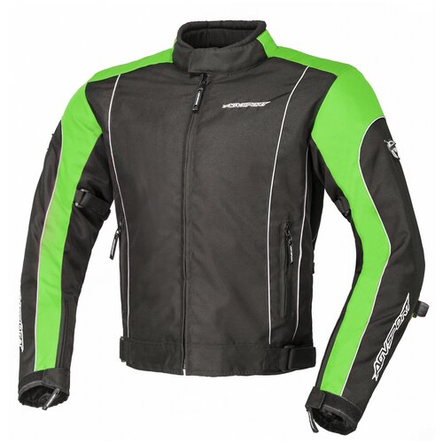 Текстильная куртка AGVSPORT Apex черный/зеленый XL (Размер производителя)