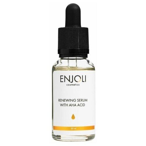 Купить Enjoli, Обновляющая сыворотка для лица с AHA кислотами для жирной и проблемной кожи, без парабенов. 30 мл, Enjoli cosmetics