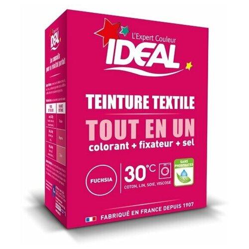 Текстильная краска IDEAL MINI «Все в Одном» для окрашивания одежды и тканей, фуксия, 230 г.