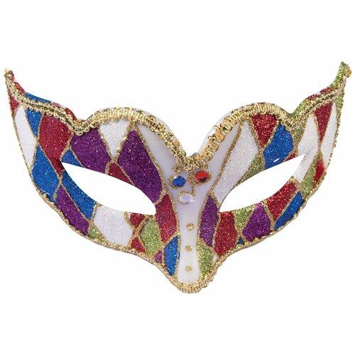 Аксессуар для праздника Forum Novelties Венецианская маска Коломбино на резинке Forum