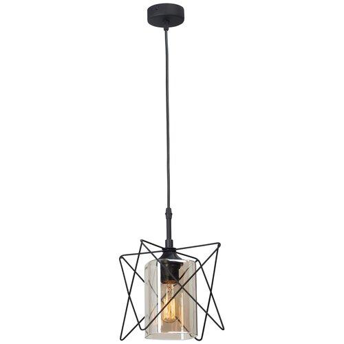 Фото - Светильник Vitaluce V4721-1/1S, E27, 40 Вт, кол-во ламп: 1 шт., цвет арматуры: черный, цвет плафона: бесцветный светильник vitaluce v4849 1 1s e27 40 вт