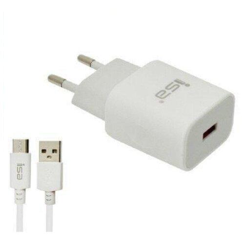 Быстрое зарядное устройство QC 3.0, 3.1А, 18W с кабелем микро micro USB HS8 ISA
