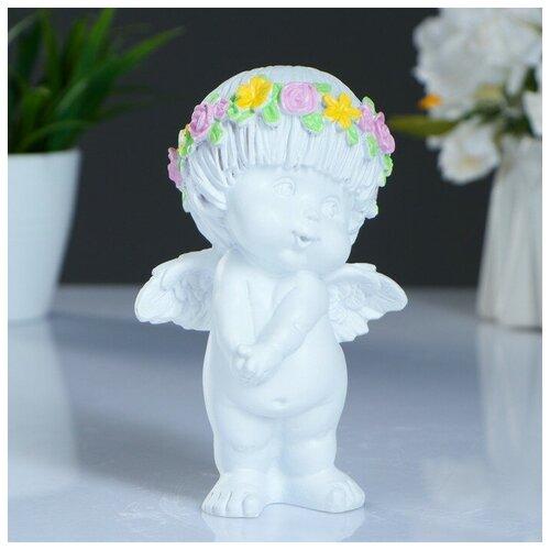 Фигура Ангел стесняшка белый 8х9х14см фигура ангел пальчик во рту белый 8х9х15см 3865133