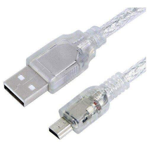 Кабель Greenconnect USB 2.0 A (M) - Mini USB B (M), 3м, Greenconnect (GCR-50795) gcr дата кабель usb 2 0 mini b 5 pin зарядка синхронизация видеорегистраторы mp3 плееры навигаторы hdd 3м