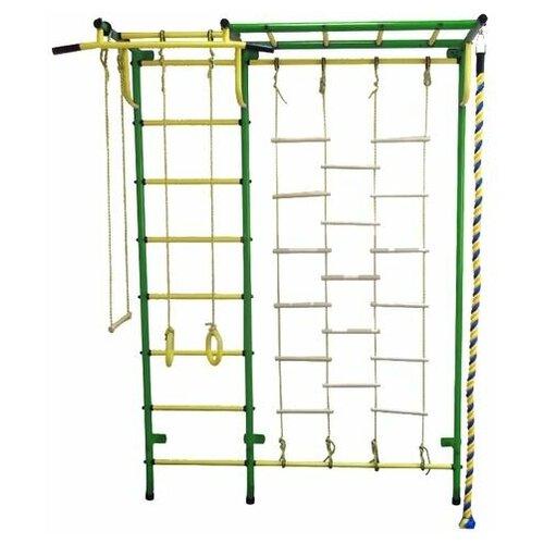 Спортивный комплекс Пионер С4Л зелёно/жёлтый