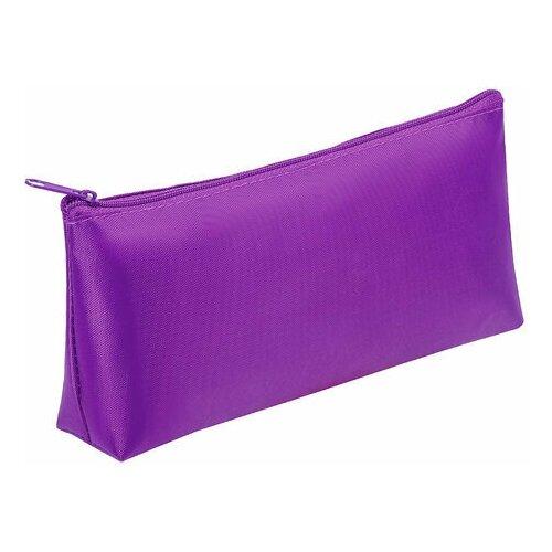 Купить Пенал-косметичка пифагор на молнии, текстиль, фиолетовый, 19х4х9 см, 229003, Пифагор, Пеналы