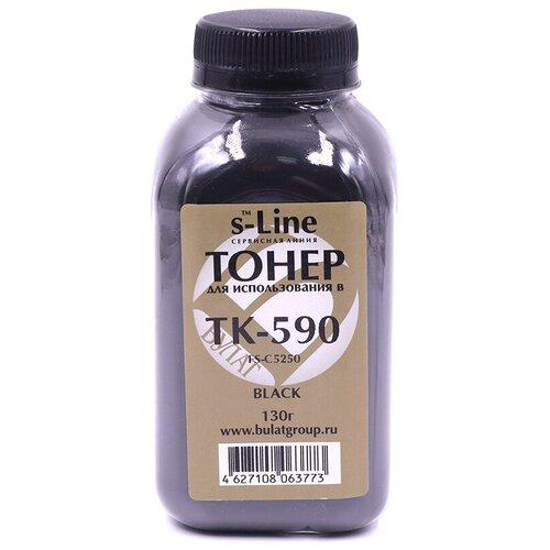 Тонер булат s-Line TK-590K для Kyocera FS-C5250 (Чёрный, банка 130г.)