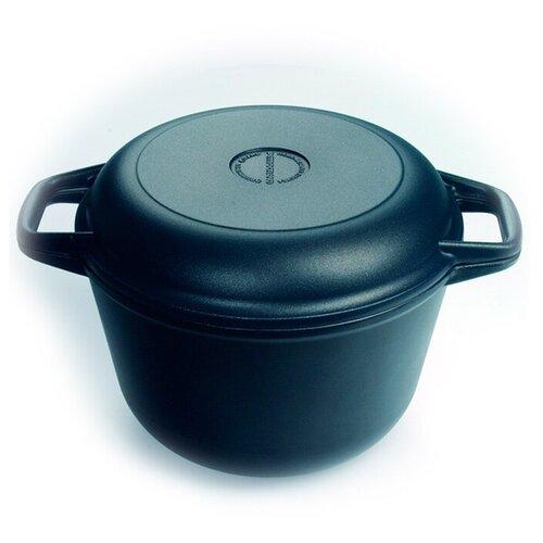 Казан с крышкой-сковородой Нева-Металл 9830 3,0 л казан алюминиевый нева металл посуда 6870 с крышкой сковородой черный 7 л