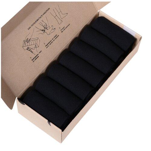 Набор из 7 пар мужских носков (нева-сокс) черные, размер 31