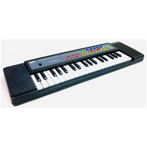 Детский музыкальный синтезатор ZYB-B3153-1 Zhorya, пианино 37 клавиш, запись, микрофон, 8 инструментов, 8 ритмов, регулятор громкости, контроль темпа, фортепиано 47.5х14х4 см