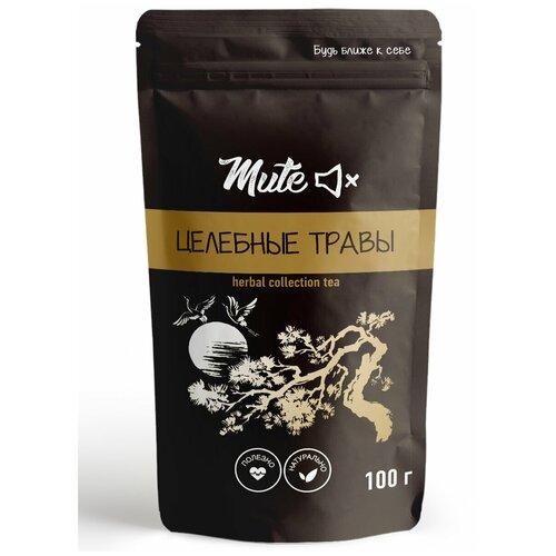 Чай MUTE Целебные травы (мелисса, лаванда, мята, фенхель, чабрец, ежевики листья), 100 г.