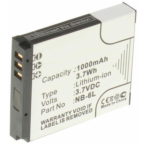 Аккумуляторная батарея iBatt 1000mAh для Canon PowerShot SX500 IS, IXUS 105 IS, IXUS 300HS, IXY DIGITAL 25 IS