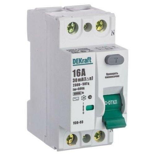 Выключатель дифференциального тока (УЗО) 2п 16А 30мА тип AC 6кА УЗО-03 SchE 14053DEK