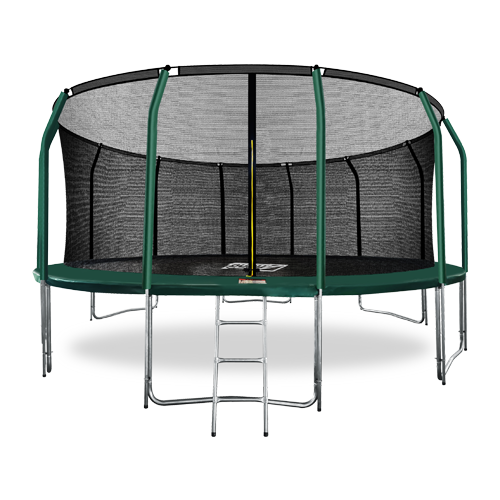 Фото - Батут премиум с внутренней сеткой и лестницей ARLAND 16FT (Dark Green) каркасный батут arland премиум 16ft с внутренней страховочной сеткой и лестницей dark green