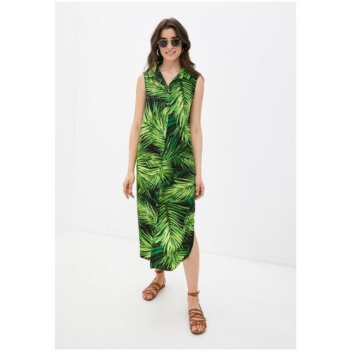 Платье - туника из вискозы Sunrise (PM France 221) размер 3XL (54), тропик