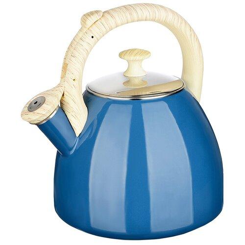 Чайник эмалированный 2,5л VETTA Глянец , синий чайник vetta глянец 847069 2 7 л