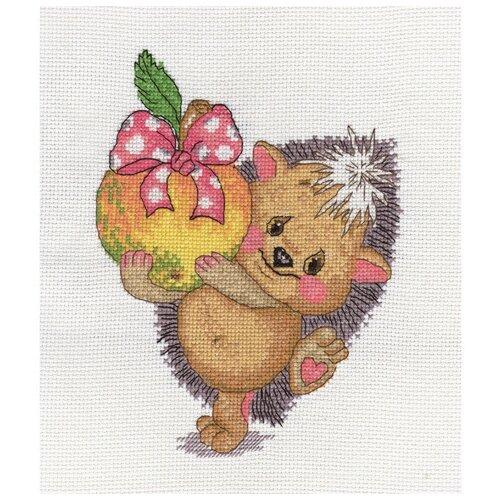 Klart Набор для вышивания Ежик с яблоком 16 x 20 см (8-131)