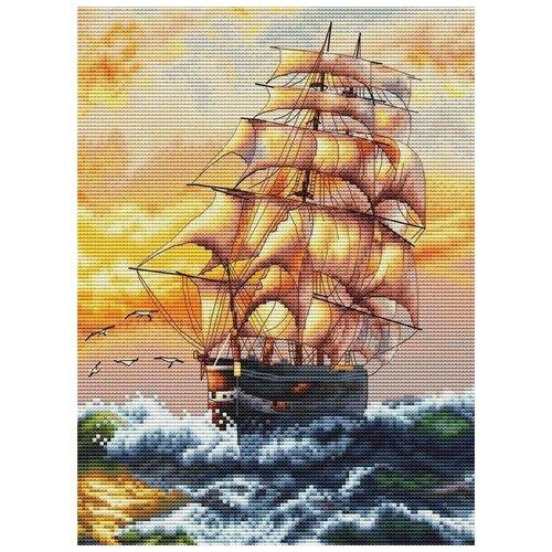 Купить Белоснежка Набор для вышивания Под парусами 20 x 27.5 см (995-14), Наборы для вышивания