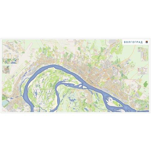 Карта Волгограда 140 х 290 см - самокл. пленка
