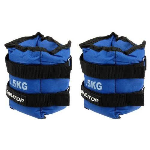 ONLITOP Утяжелители 2 шт. х 1,5 кг, цвет синий утяжелители torneo 2 х 2 кг