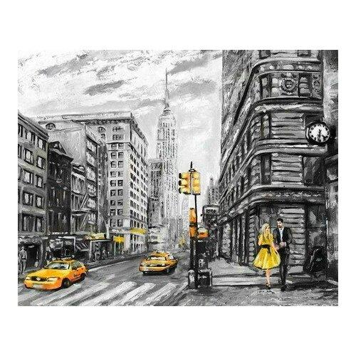 Купить Картина по номерам Столичная улица, 40x50 см. Цветной, Картины по номерам и контурам