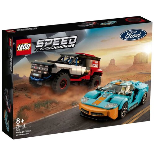 Фото - Конструктор LEGO Speed Champions 76905 Ford GT Heritage Edition and Bronco R lego lego speed champions mopar dodge srt dragster and 1970 dodge challenger t a