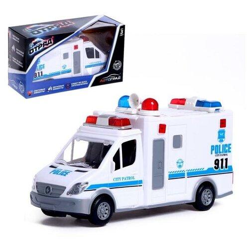 Фото - Автоград Машина Полиция, работает от батареек, свет и звук, SL-04692B 5187452 автоград машина металлическая полицейский джип инерц свет и звук масштаб 1 43 sl 2493e 1740075