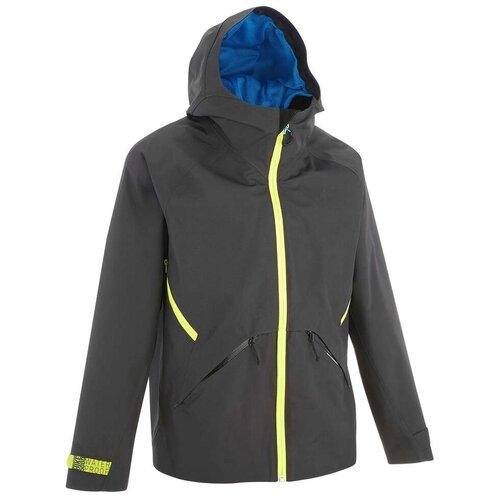 Куртка водонепроницаемая для походов для детей 7–15 лет серая MH550 QUECHUA Х Декатлон 161-172 CM 14-15