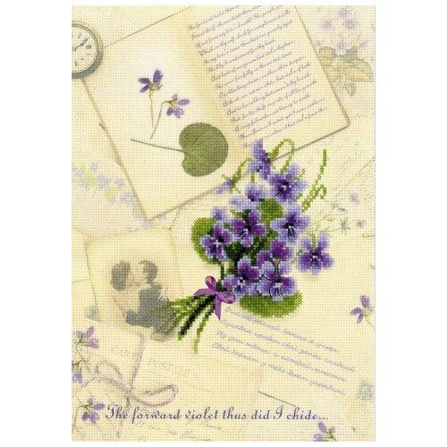 Набор Письмо о любви. Фиалки частичная вышивка 21х30 Риолис 0039 РТ 0039 РТ hayas hpl 0039 grey