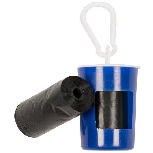 Контейнер для гигиенических пакетов DUVO+, синий, + 2x20шт пакетов (Бельгия)