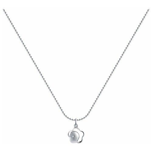 SOKOLOV Колье из серебра с бриллиантом 87070016, 40 см, 3.42 г