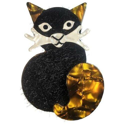 Blucome Брошь Кошка черная