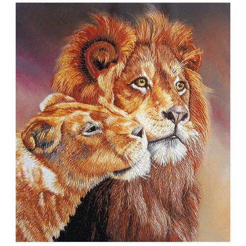 Купить PANNA Набор для вышивания Львы 17 х 19 см (ЖК-2095 / JK-2095), Наборы для вышивания