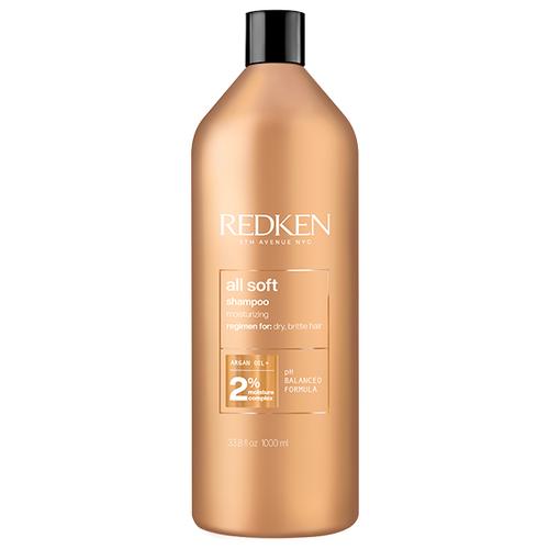 Фото - Redken All Soft Шампунь для питания и смягчения волос, 1000 мл шампунь для волос redken all soft 300 мл