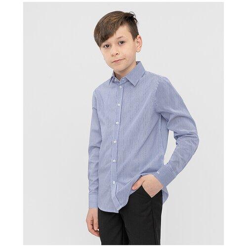 Рубашка Button Blue размер 128, голубой