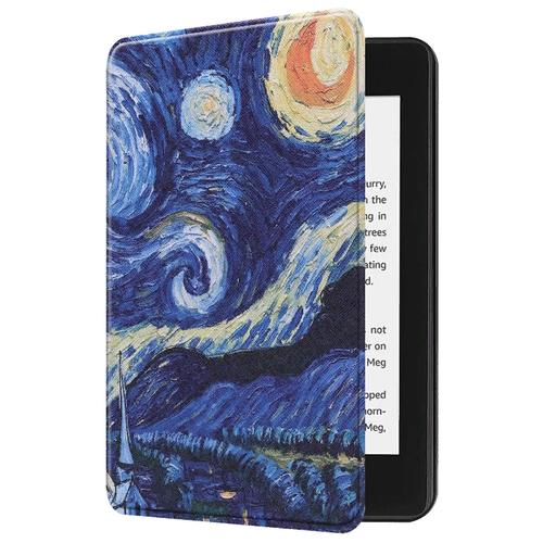 Чехол-обложка MyPads для Amazon Kindle PaperWhite 2018 тонкий легкий необычный с функцией включения-выключения и возможностью быстрого снятия тематика Ночь