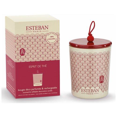 Ароматическая свеча Esteban зеленый ЧАЙ