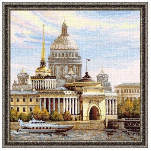 Фото - Риолис Набор для вышивания крестом Адмиралтейская набережная 40 x 40 (1283) риолис набор для вышивания крестом русская охота 60 x 40 1639