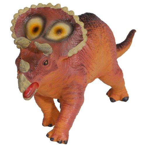 Купить Игрушка для детей Динозавр ТМ КОМПАНИЯ ДРУЗЕЙ , серия Животные планеты Земля , с чипом, звук - рёв животного, игрушечное животное, дикий игрушечный зверь, эластичный пластик, 23X6.8X11.8 см, Компания Друзей, Игровые наборы и фигурки