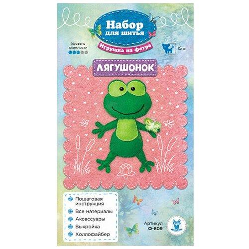 Купить Ф-809 Набор для шитья игрушки из фетра 'Лягушонок' 15см, SOVUSHKA, Изготовление кукол и игрушек