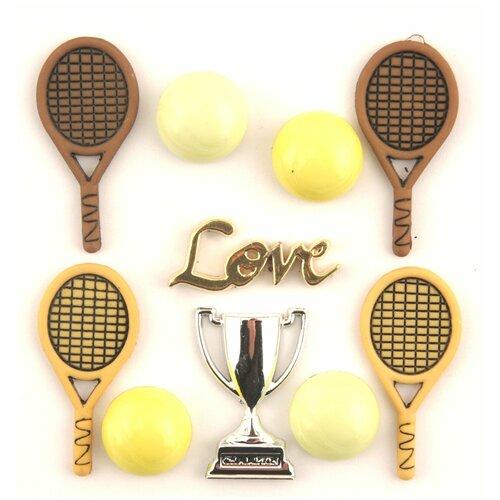4075, Пуговицы. Теннис, Buttons Galore & More  - купить со скидкой