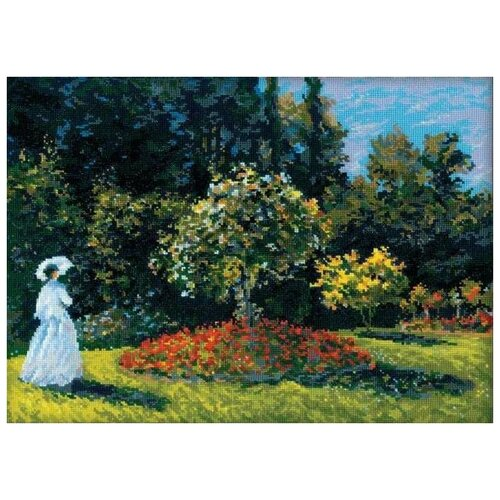 Купить Набор Дама в саду. по мотивам картины К.Моне 40х30 Риолис 1225 1225, Наборы для вышивания