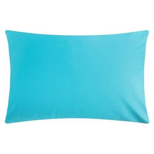 Наволочка Этель 50*70 см, цв. голубой, 100% хлопок, мако-сатин, 128 г/м² 6783317