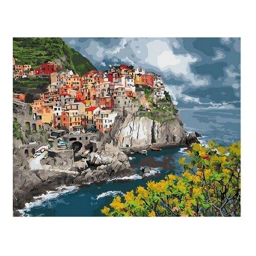 Купить Картина по номерам Прибрежный городок, 40x50 см. PaintBoy, Картины по номерам и контурам