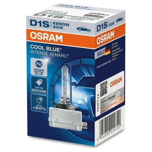 Лампа ксеноновая Osram XENARC® COOL BLUE® INTENSE 6000К D1S (35W 85V PK32d-2) 1шт. лампа автомобильная ксеноновая osram xenarc cool blue boost d1s 66140cbb hcb 35w 2 шт