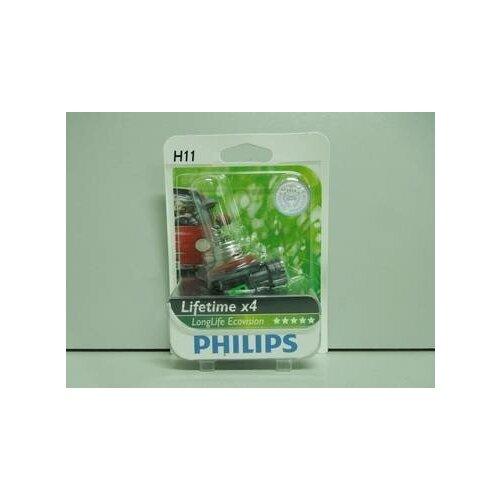 Лампа PHILIPS H11-12-55 LONGLIFE ECO VISION (4-хкратный ресурс) блистер (10)
