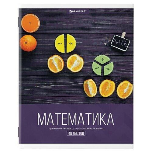 Купить Тетрадь предметная для работ по математике Brauberg Классика XXI (А5, 48л, клетка, обложка картон, справочная инф.) 10шт. (403952), Тетради