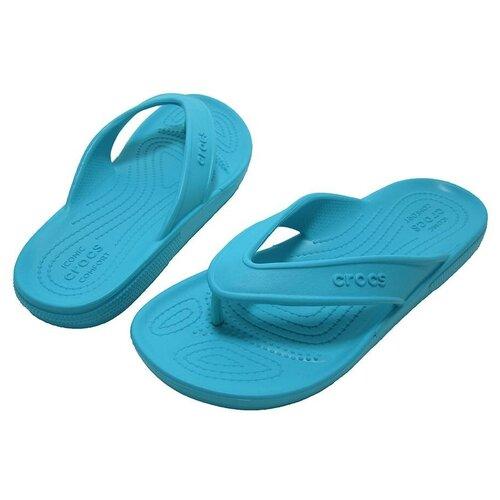 Шлепанцы Crocs 206119-4SL, цвет бирюзовый, размер 39 (39-40/M7/W9)