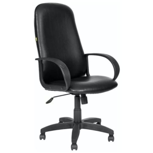 Кресло офисное OLSS амбасадор Ультра черный, экокожа