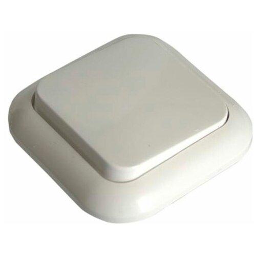 Выключатель SVET одноклавишный скрытая установка белый